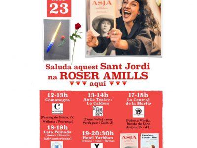 Mapa con las firmas de Sant Jordi 2019 de Roser Amills